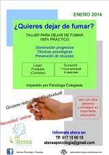 TALLER PARA DEJAR DE FUMAR. Enero de2014